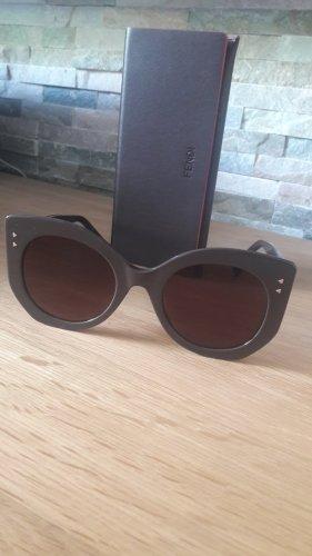Fendi Occhiale da sole spigoloso bronzo