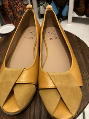 KMB Peep Toe Ballerinas yellow-gold orange