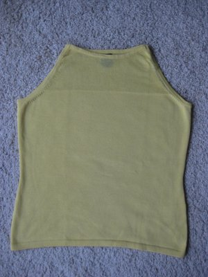 sonnengelbes, ärmelloses Strickshirt, SPRIT, Größe S, NEU