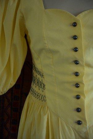 Sonnengelbes Trachten Kleid im Vichiy-Karo Gr. 38