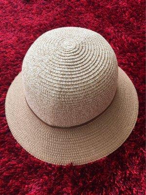 Cappello parasole crema-color cammello