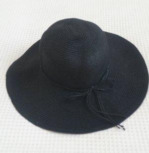 H&M Zonnehoed zwart Gemengd weefsel