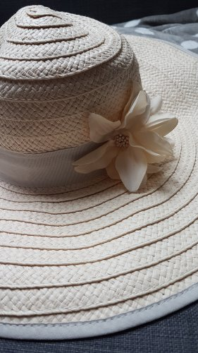 H&M Straw Hat light grey-pink