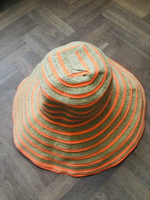Seafolly Cappello di paglia beige-arancio neon Canapa