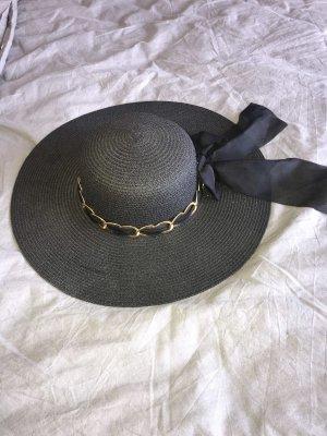 Cappello parasole nero-oro