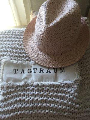 Cappello di paglia rosa pallido