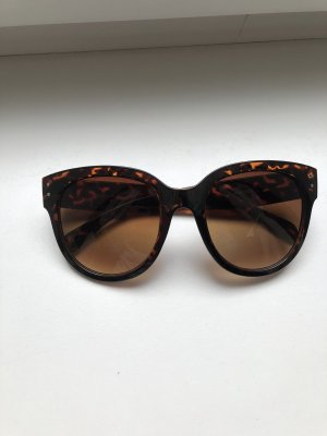 Butterfly Glasses cognac-coloured