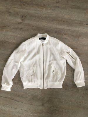 Zara Basic Bomber Jacket white