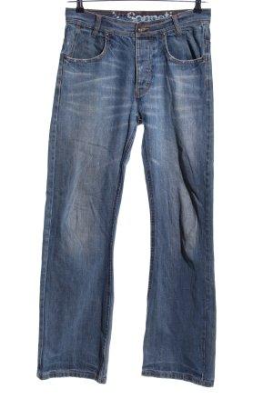 Straight-Leg Jeans blau Street-Fashion-Look