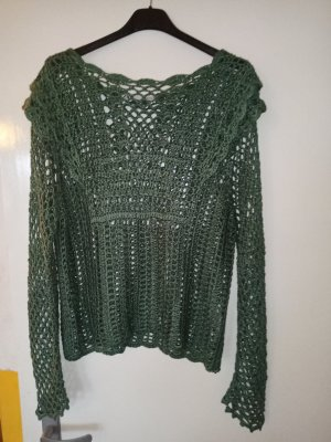 Zara Knitted Top olive green