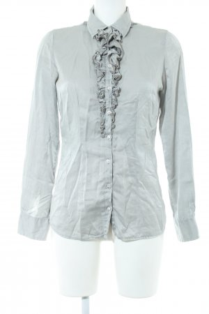 Sophie Glanzende blouse khaki casual uitstraling