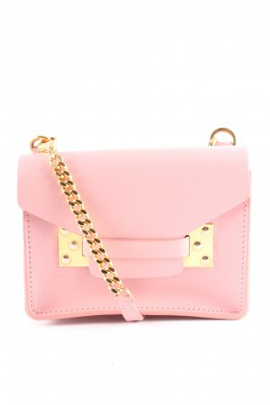 Sophie Hulme Mini Bag dusky pink-gold-colored leather