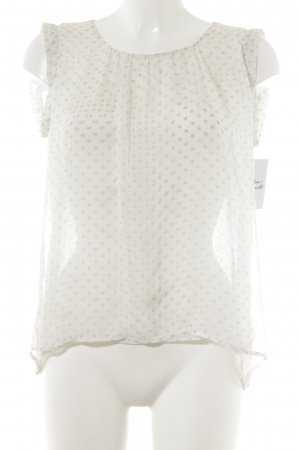 Sophie Seidenbluse wollweiß-beige Punktemuster Elegant