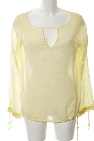 Sophie Transparenz-Bluse blassgelb Elegant