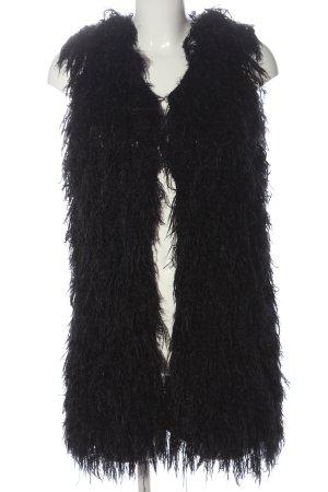 Sophyline&Co Gilet long tricoté noir style décontracté