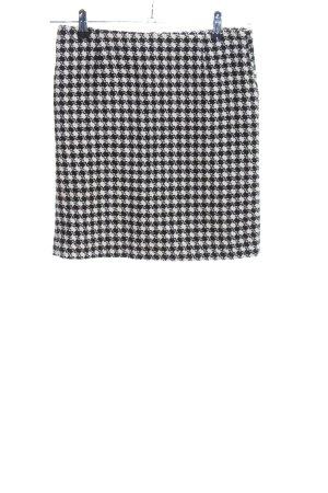 Sophyline Falda de lana blanco-negro estampado repetido sobre toda la superficie