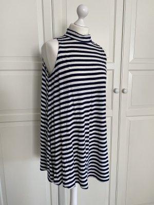 Soprano Sukienka plażowa biały-ciemnoniebieski