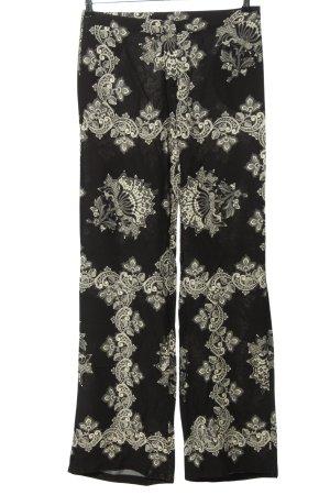 Sora Pantalon Marlene noir-blanc motif graphique style décontracté