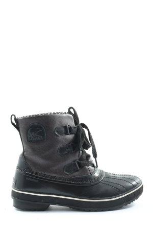 Sorel Sznurowane botki czarny-jasnoszary Melanżowy W stylu casual
