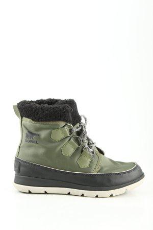 Sorel Winterstiefel schwarz-grün Motivdruck Casual-Look
