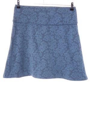 Sorgenfri Sylt Stretchrock blau Blumenmuster Casual-Look