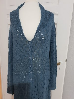 Sorgenfri Sylt Szydełkowany sweter szary niebieski-jasnoniebieski Bawełna