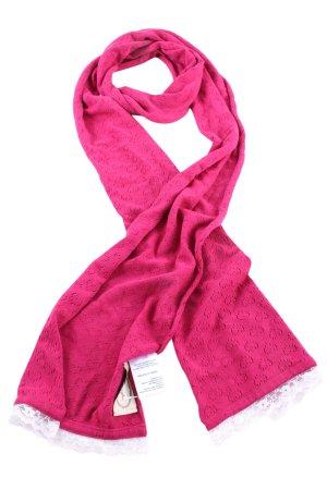 Sorgenfri Sylt Strickschal pink-weiß Casual-Look