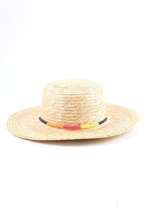 South Beach Chapeau de paille crème-orange clair