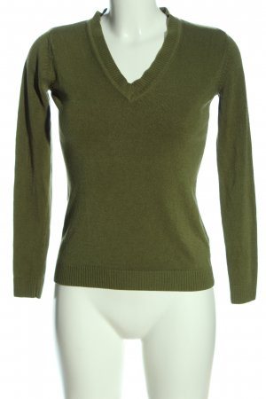 south V-Ausschnitt-Pullover khaki Casual-Look
