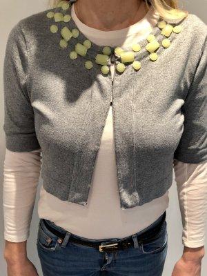 Banana Republic Short Sleeve Knitted Jacket multicolored