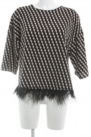 Souvenir Clubbing Langarm-Bluse abstraktes Muster Casual-Look