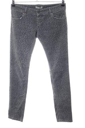 Souvenir Clubbing Skinny Jeans hellgrau-schwarz Allover-Druck Casual-Look