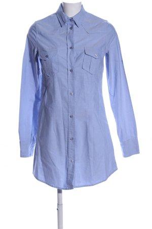 Souvenir Shirtwaist dress blue weave pattern casual look