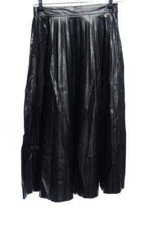 Souvenir Falda plisada negro estilo extravagante