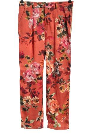 Souvenir Stoffhose hellorange-pink Allover-Druck Casual-Look