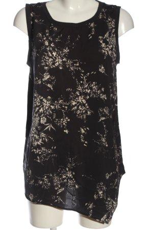 Soyaconcept ärmellose Bluse schwarz-creme abstraktes Muster Casual-Look