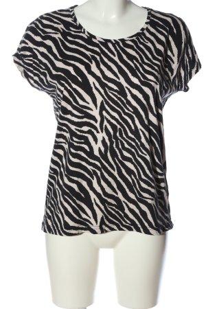 Soyaconcept Top batik blanc cassé-noir imprimé allover style décontracté