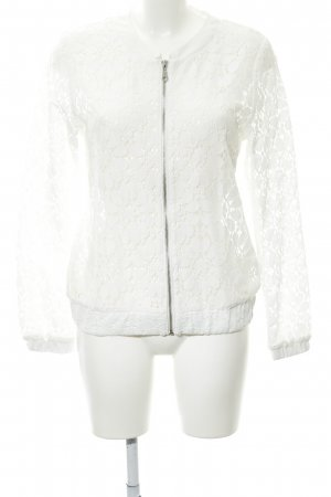 Soyaconcept Blouse Jacket white floral pattern lace look