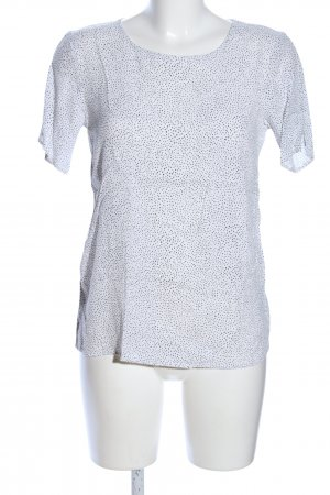 Soyaconcept Blouse topje wit-lichtgrijs gestippeld patroon casual uitstraling