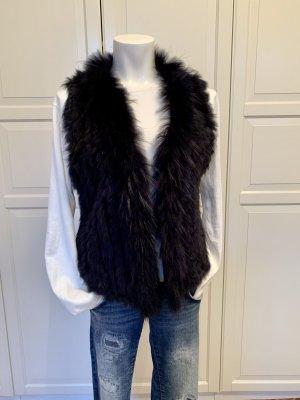 Soyaconcept Fur vest dark blue