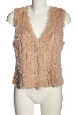 Soyaconcept Fur vest nude casual look