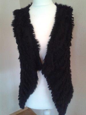 Soyaconcept Fur vest black pelt