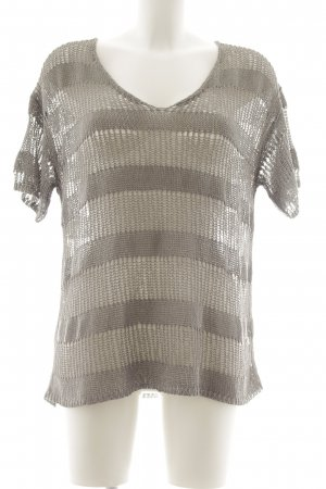 Soyaconcept Crochet Shirt light grey loosely knitted pattern casual look