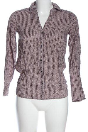 Soyaconcept Hemd-Bluse pink-schwarz Allover-Druck Casual-Look