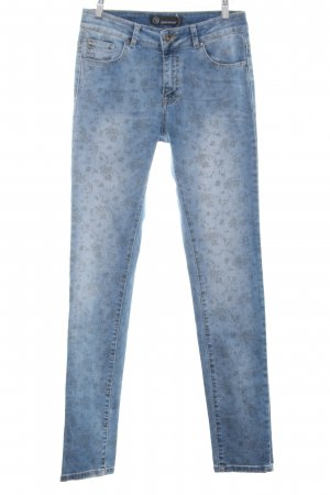 Soyaconcept Hoge taille jeans blauw bloemenprint casual uitstraling
