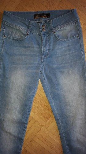 Soyaconcept Jeans skinny bleuet-bleu azur coton
