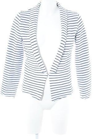 Soyaconcept Jerseyblazer weiß-dunkelblau Streifenmuster Casual-Look