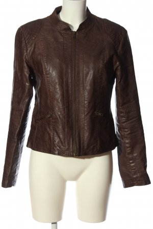 Soyaconcept Faux Leather Jacket brown casual look