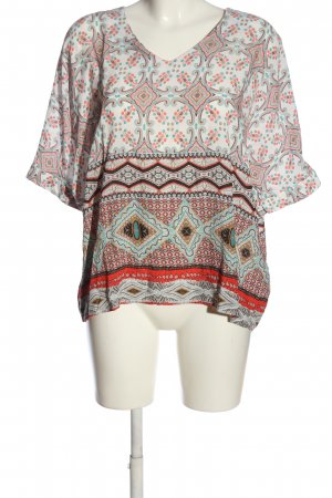 Soyaconcept Kurzarm-Bluse Allover-Druck Casual-Look