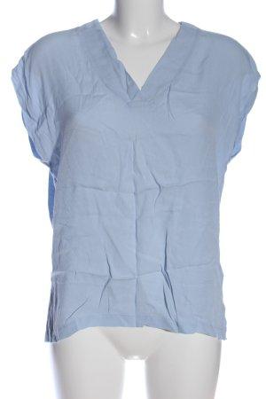 Soyaconcept Kurzarm-Bluse blau Casual-Look